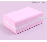 Блок розовый с белой полосой