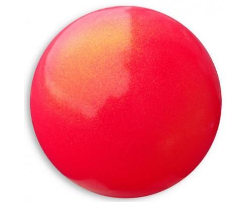 Мяч Pastorelli 18 см HV глиттер коралловый
