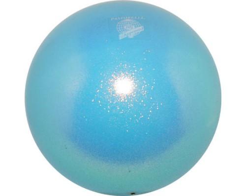 Мяч Pastorelli 18 см Глиттер цв. Голубой арт. 00031 FIG