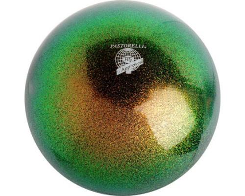 Мяч 18 см Pastorelli Глиттер цв. Изумрудный арт.00034 FIG