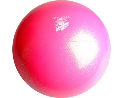 Мяч Pastorelli Glitter Rosa Fluo HV 18 cm FIG Art. 00040