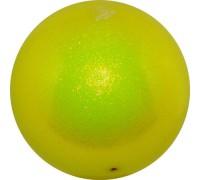 Мяч 18 см Pastorelli Глиттер Желтый HV арт. 00025 FIG