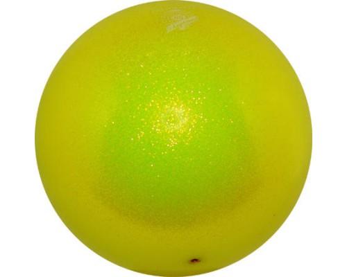 Мяч Pastorelli 18 см Глиттер Желтый HV арт. 00025 FIG