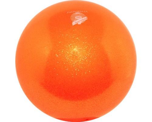 Мяч Pastorelli 18 см Глиттер Оранжевый 00028 FIG