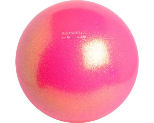 Мяч Pastorelli Glitter 16 смцвет Rosa Fluo 02064