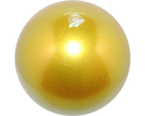 Мяч 18 cм Pastorelli Глиттер Золото HV 00030