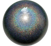 Мяч 18 см Pastorelli Глиттер Галакси цв.Черный арт. 02408 FIG