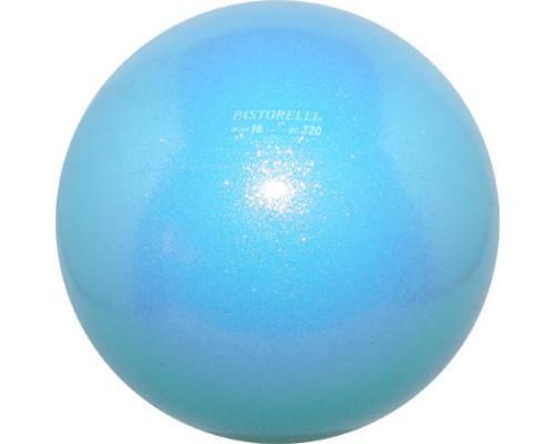 Мяч Pastorelli Glitter 16 смцвет Celeste 02067 мяч 16см