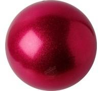Мяч 18 см Pastorelli Глиттер цв. Малиновый HV арт. 02068 FIG