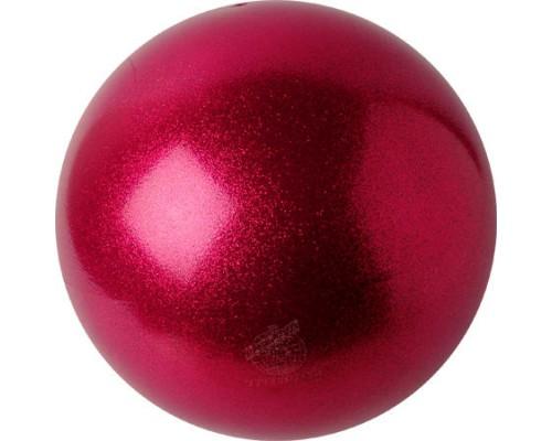 Мяч Pastorelli 18 см Глиттер цв. Малиновый HV арт. 02068 FIG