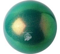 Мяч 18 см Pastorelli Глиттер Эмеральд HV 02201 FIG