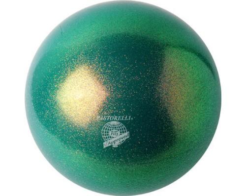 Мяч Pastorelli 18 см Глиттер Эмеральд HV 02201 FIG
