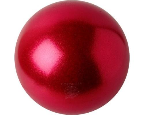 Мяч 18 см Pastorelli Глиттер цв. Земляничный HV арт. 02203 FIG