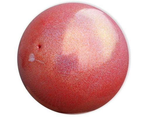 Мяч Pastorelli 18 см глиттер АВ красный