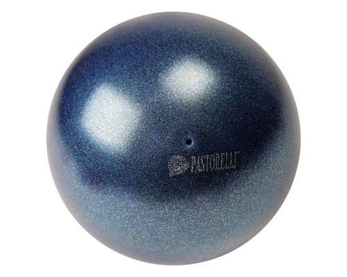Мяч Pastorelli 18 см Глиттер цв. Синий Темный HV арт. 02303 FIG