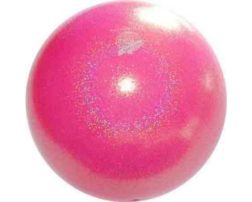 Мяч Pastorelli 18 см Глиттер Галакси цв. Розовый Яркий арт. 02452