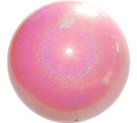 Мяч 18 см Pastorelli Глиттер Галакси цв. Розовый Нежный HV арт. 02447 FIG