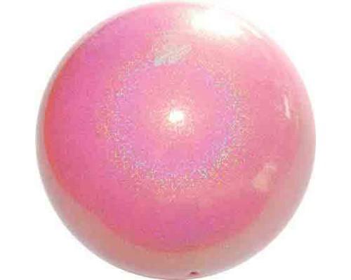 Мяч Pastorelli 18 см Глиттер Галакси цв. Розовый Нежный HV арт. 02447 FIG