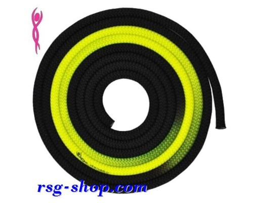 Скакалка Вентурелли 3 m FIG цв. Black-Yellow PLDD118002
