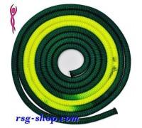 Скакалка Venturelli 3 m FIG col. Dark Green-Yellow PLDD213118