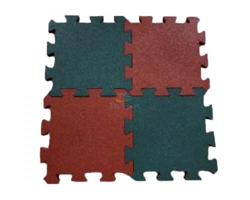 Резиновое покрытие Пазл 455х455 мм