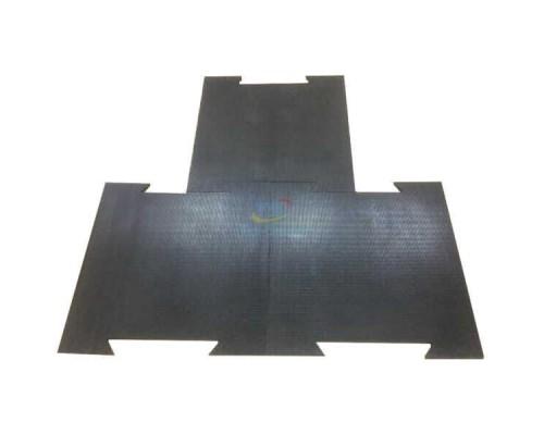 Резиновая плитка с креплением ласточкин хвост 700х700 мм